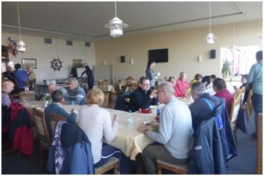 Dieses Mal durften wir das Abschluss-Essen im Yachtclub Wismar 1961 e.V. veranstalten